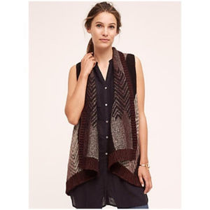 Anthropologie Sleepng on Snow Mabli vest wool
